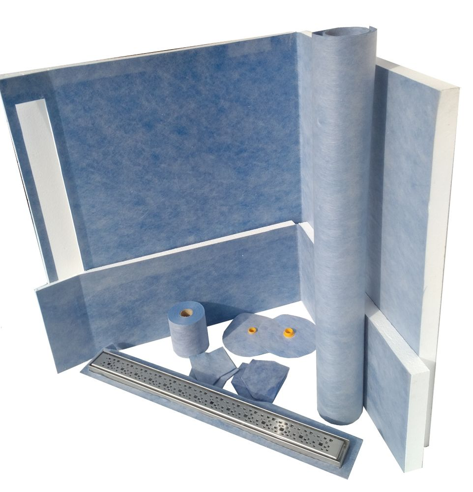 48 Inch X 60 Inch Linear Shower Kit With 42 Inch Bright Clear Wall
