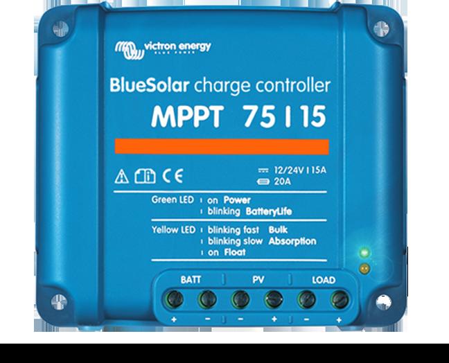 Bluesolar Mppt 75 15 Solar Solar Panels Green Led