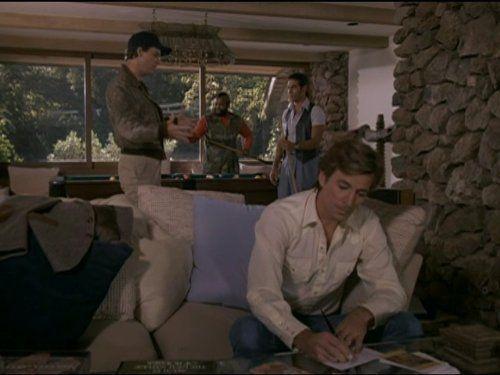 Mr. T, Dirk Benedict, Dwight Schultz, and Eddie Velez in Das A-Team (1983)
