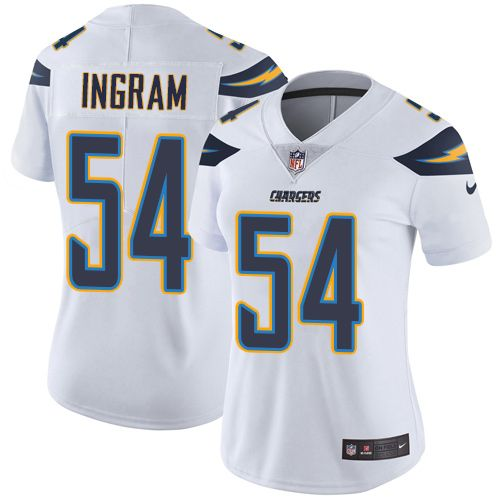nike chargers 54 melvin ingram white womens stitched nfl vapor untouchable limited jersey and