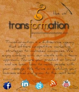 #Facebook welcome page for us! www.transformationmarketing.com