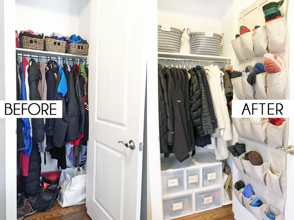 How To Organize A Coat Closet   Before U0026 After With All The The Smart  Storage