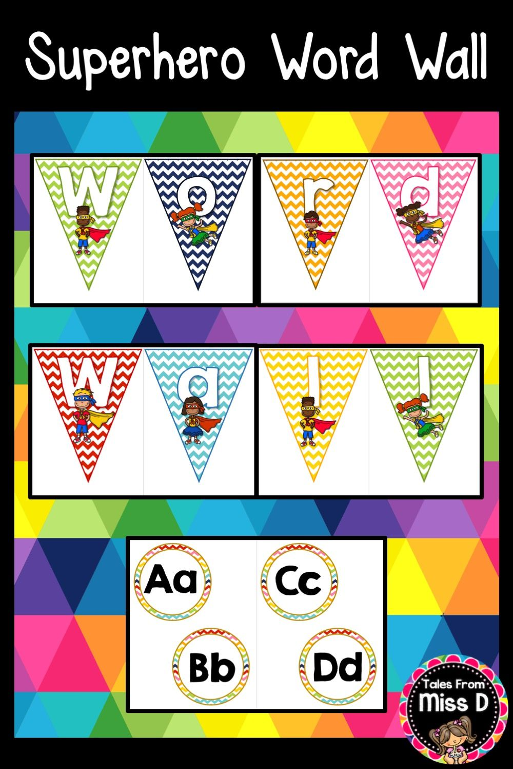 Word Wall Letters Delectable Superhero Word Wall Headers  Word Wall Headers Word Wall Letters Inspiration