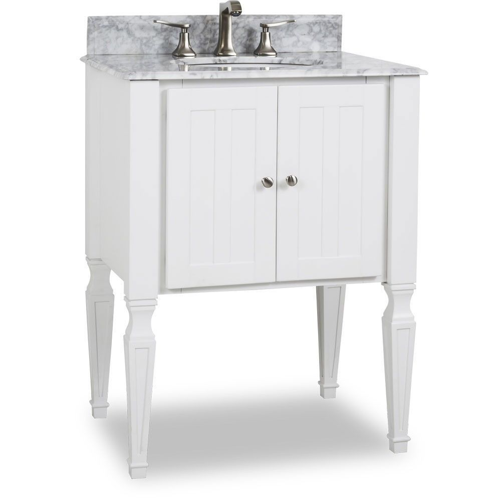 Details About 28 Jensen Bath Elements Bathroom Vanity With White Marble Top Porcelain Sink Bathroom Vanity Remodel Vintage Bathroom Vanities Small Bathroom Vanities