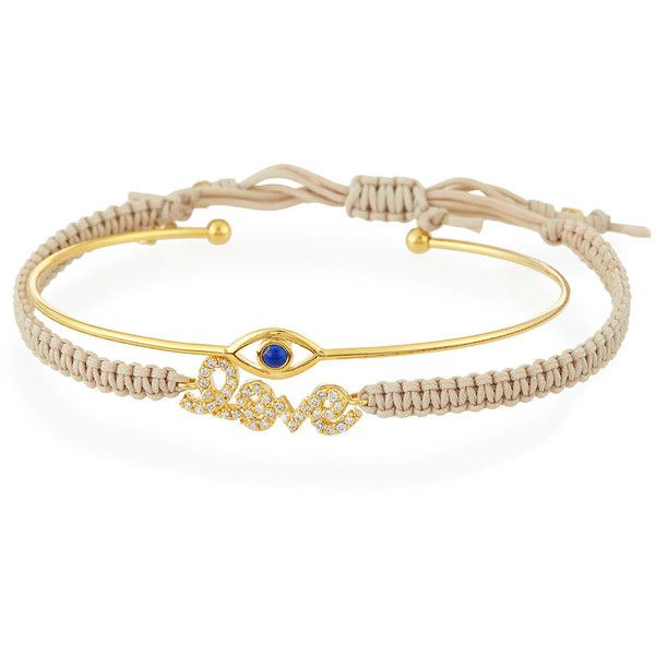 Tai Evil Eye Love Set Of Two Bracelets 53 Liked On Polyvore