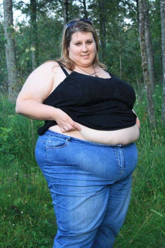 Große BBW Schöne Jeans
