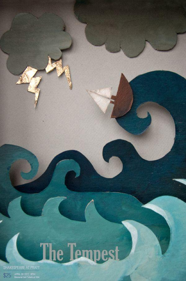 Paper cutout look
