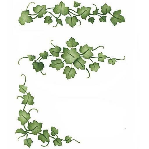 Random Ivy Furniture Stencil | Stenciling, Stencil templates and ...