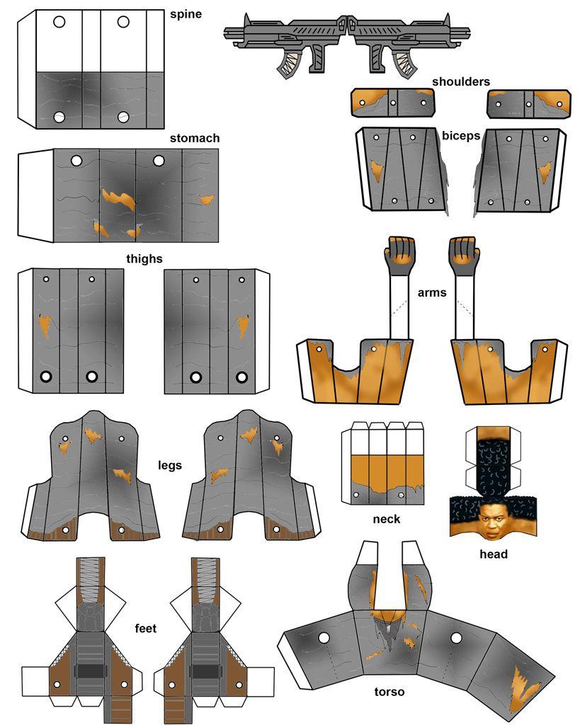 papercraft robot template papercraft pinterest papercraft robot and template. Black Bedroom Furniture Sets. Home Design Ideas