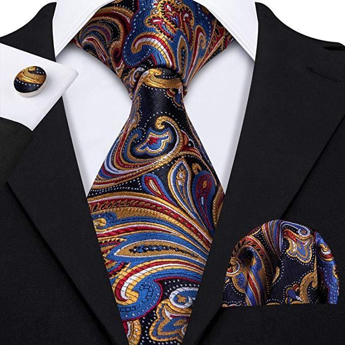 Muliti Color Silk Paisley Necktie Set-LBW372 - Toramon Necktie Company | Necktie  set, Ties mens fashion, Ties mens