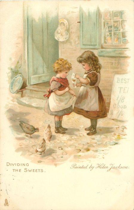 Helen Jackson - English- (1855-1911) vintage postcard