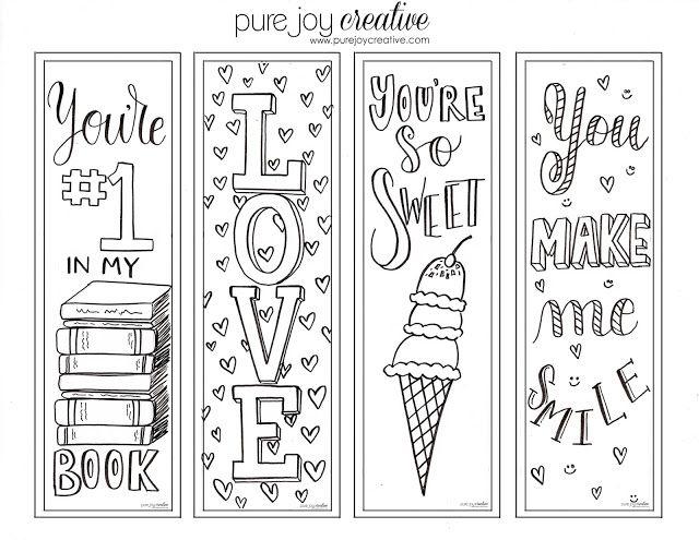 A Glimpse Inside Fun Free Valentine S Day Bookmarks Coloring Bookmarks Printable Valentine Bookmarks Coloring Bookmarks Free