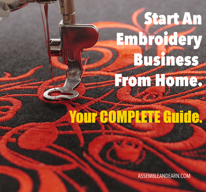 Start An Embroidery Business From Home Machine Embroidery Projects Machine Embroidery Designs Projects Sewing Embroidery Designs