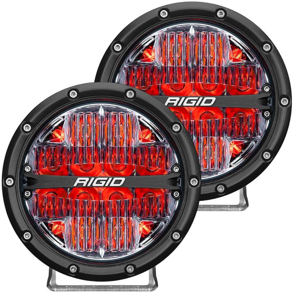 Rigid 360 Series 6in Led Lights With Red Backlight Drive Rigid Industries Led Lights Off Road Lights