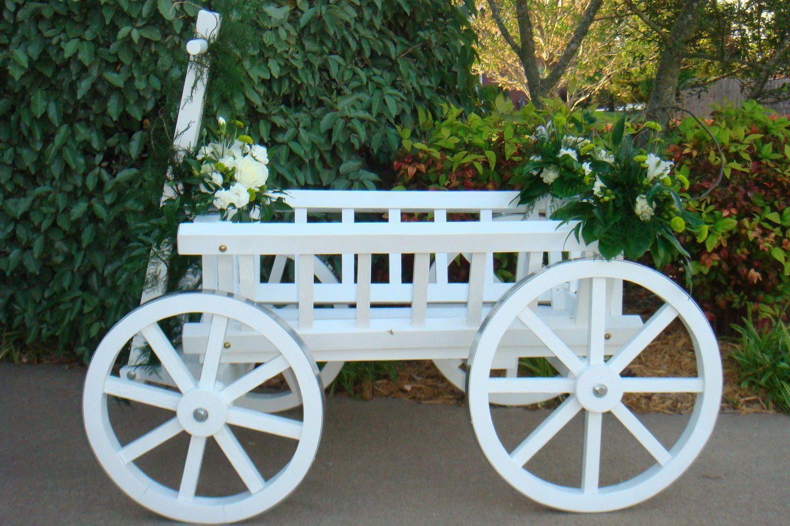 Flower Ring Bearer Wagon Wedding Ceremony Pumpkin White Free Shipping