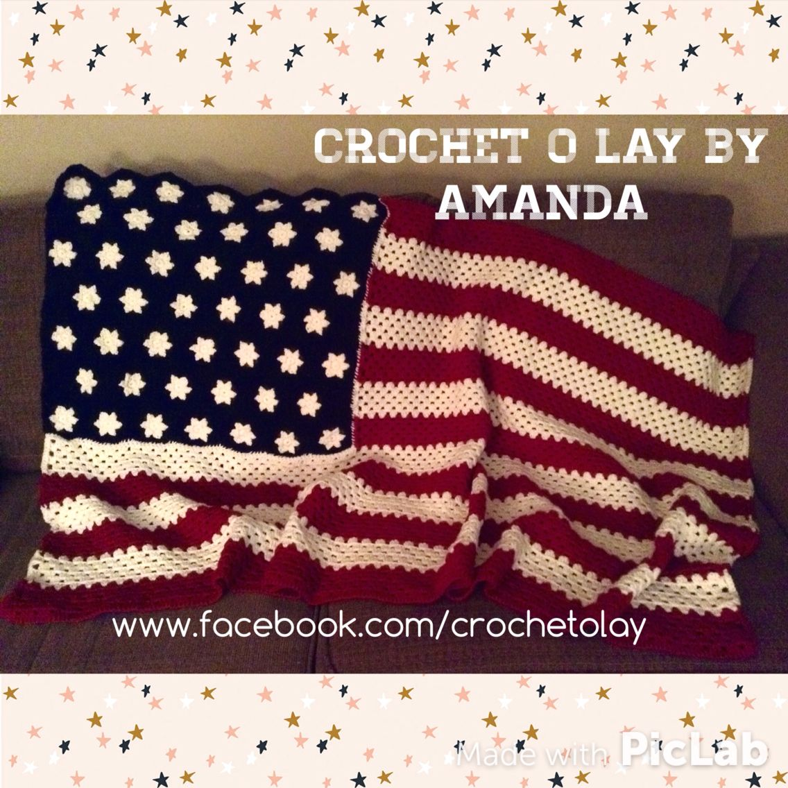 Crochet American Flag Afghan ~Pattern by Past Perfect Patterns ...