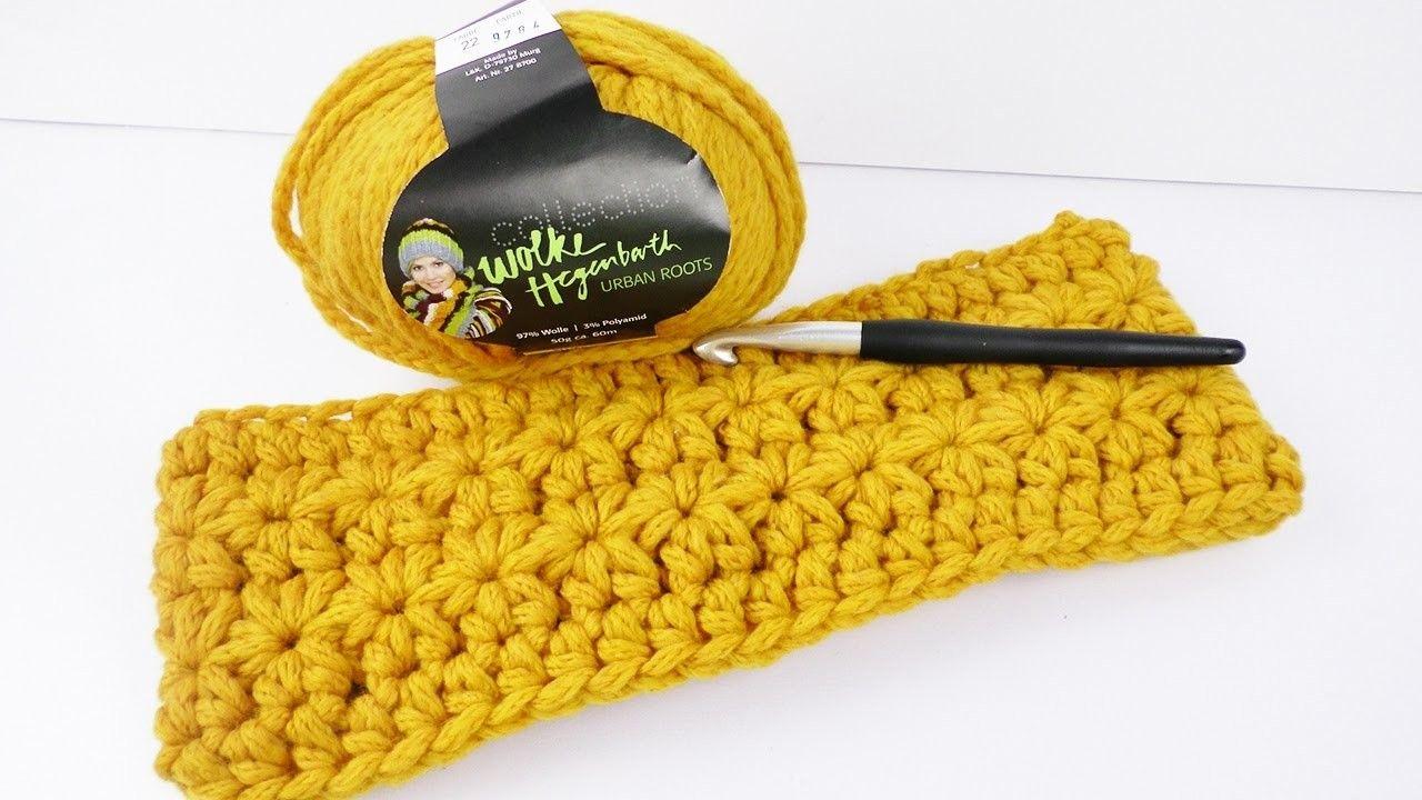 Stirnband mit Sternchen Muster Häkeln | Crochet