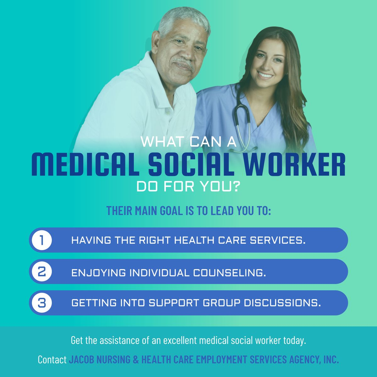 What Can a Medical Social Worker Do for You?