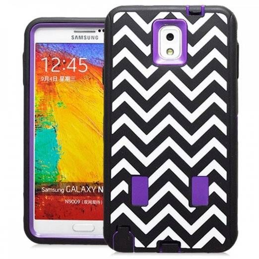 SAMSUNG GALAXY NOTE 3 CASE, SHOCKPROOF DIRT PROOF HYBRID ARMOR COVER (WAVE PURPLE) | #cellphonegadgets #mobileaccessories www.kuteckusa.com