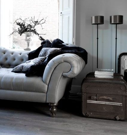 Dove Gray Home Decor ♅ Grey Tufted Sofa