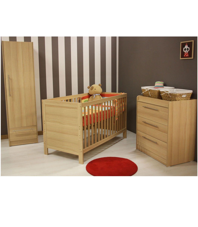 Buy Your Kiddicare Trio Nursery Furniture Roomset Oak From