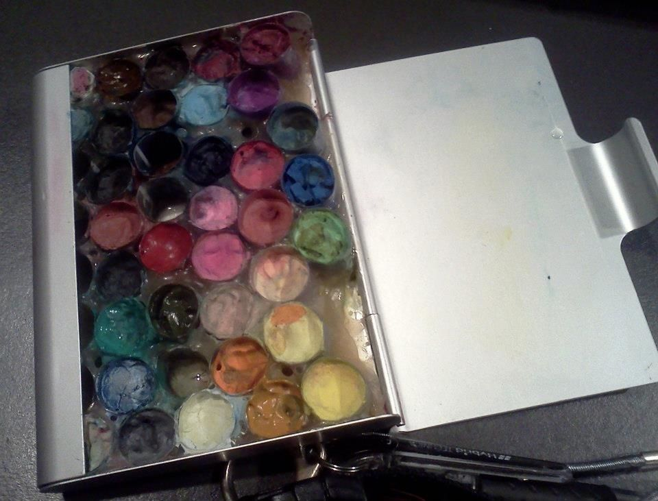 From 08-19-2012, my first homemade mobile watercolor kit. Aluminum ...