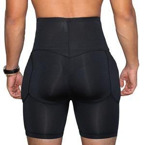 40180d2302 Men High Waist Big Belly Control Panties Tummy Trimmer Corset Waist trainer  Slimming Underwear men padded