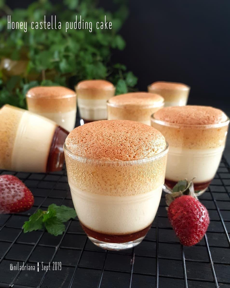 Nila Adriana Di Instagram Honey Castella Pudding Cake Puding Custard Madu Karamel Cake Assalamualaikum Buat Camilan Sore Makanan Penutup Resep Kue Lezat