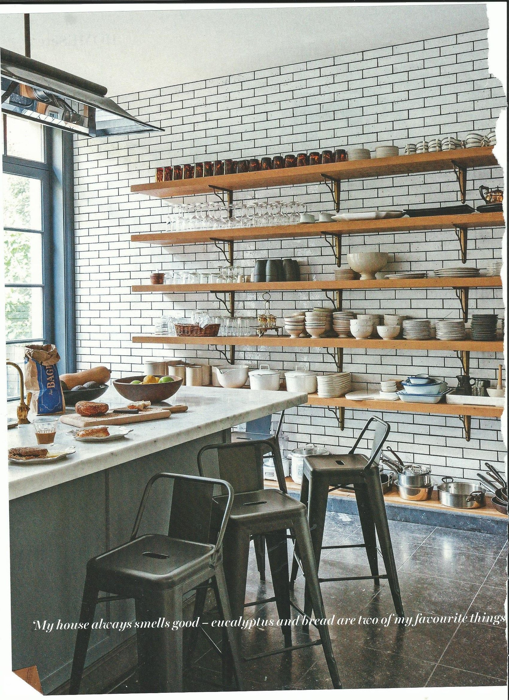 Industrial style butcher shop tiles - full wall | home ideas ...