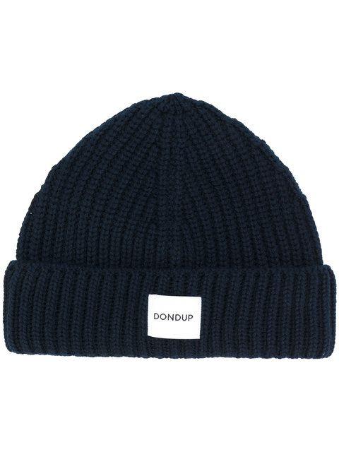f47694741b9 DONDUP Logo Patch Knitted Beanie.  dondup  beanie