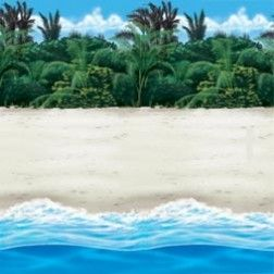 tropical beach party scene setter http www partypieces co uk kids