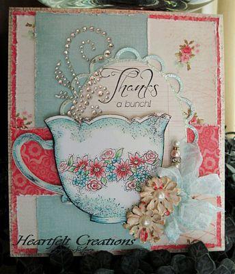 Heartfelt Creations | Light Blue China Tea Cup