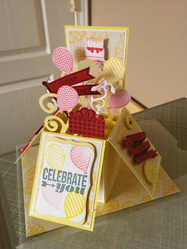 birthday pop up card  pop up cards diy crafts cards