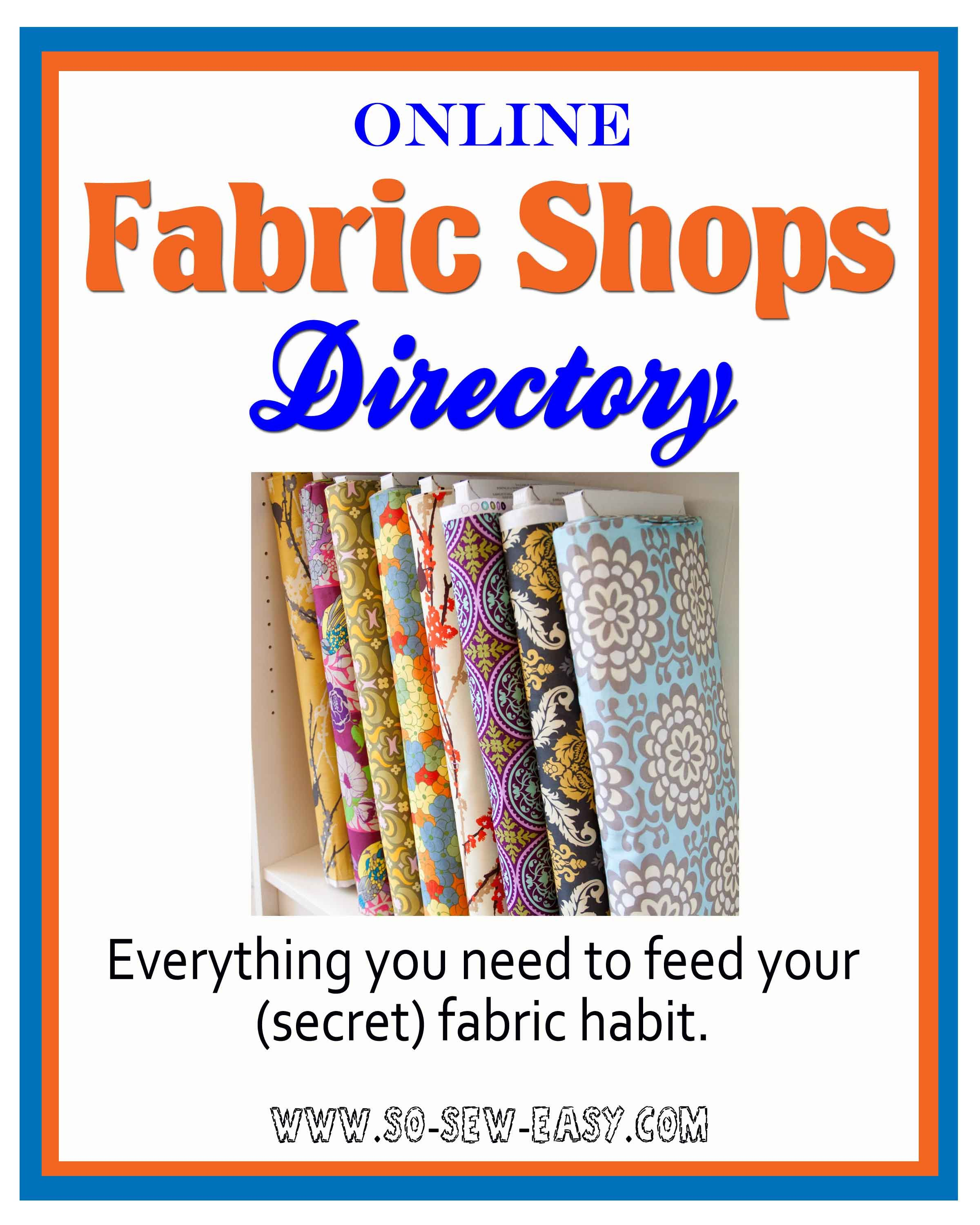 The BEST Online Fabric Shops Fabric shop, Sewing