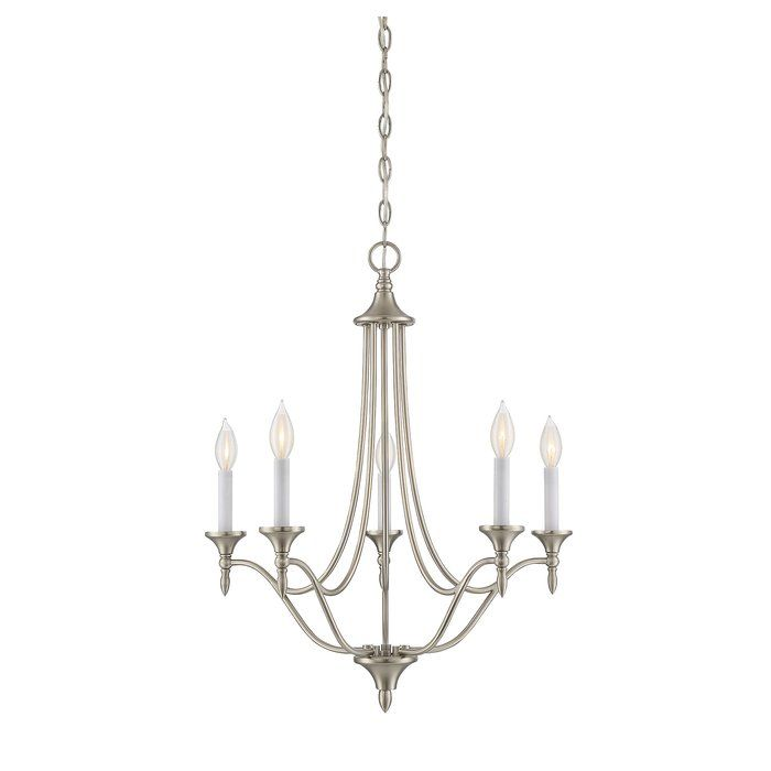 Gourdine 5 Light Candle Style Chandelier