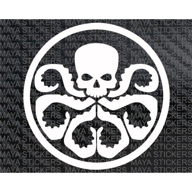Hydra Avengers Logo Sticker Decal For Cars Bikes Laptop