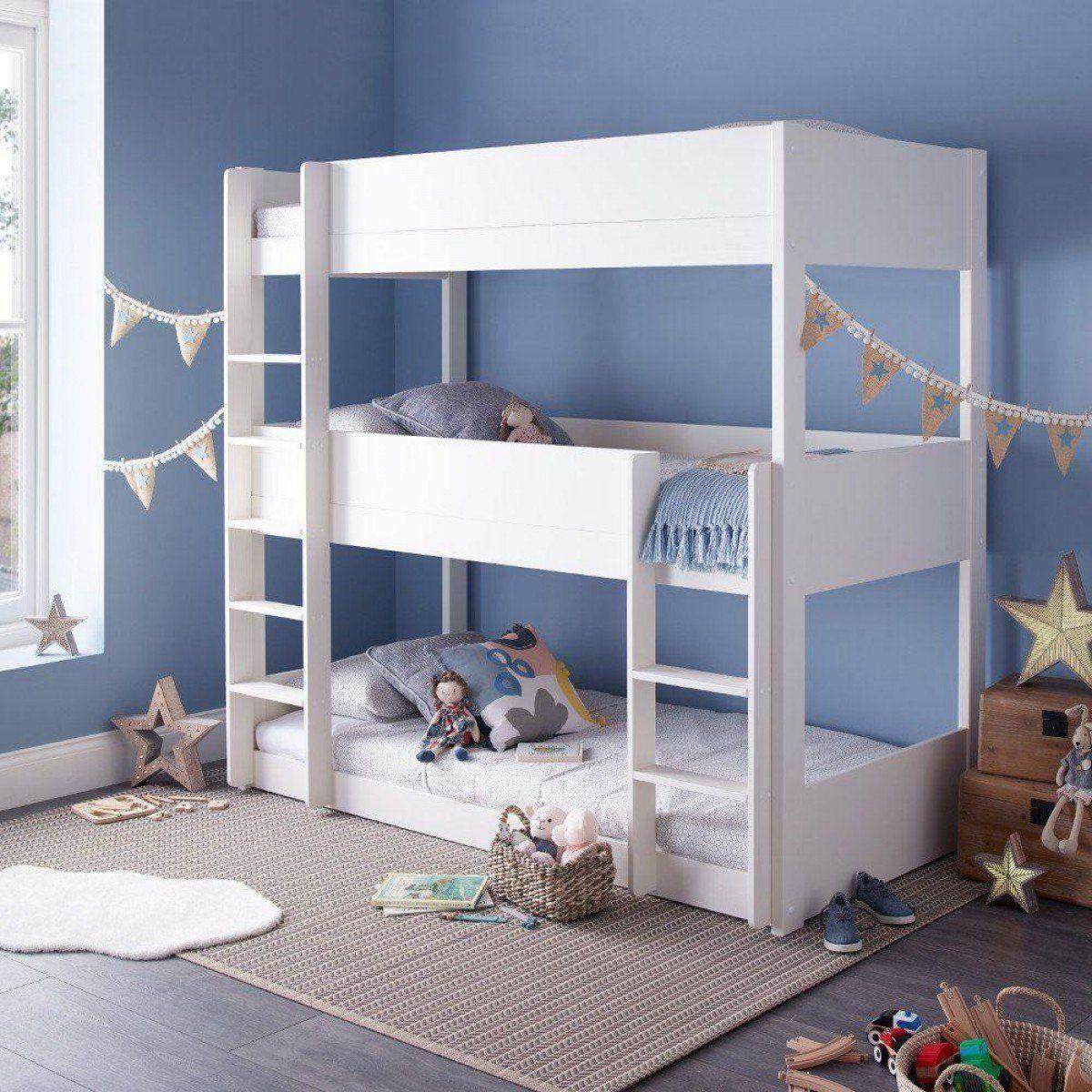 Best Snowdon White Wooden Triple Sleeper Bunk Bed Triple 400 x 300