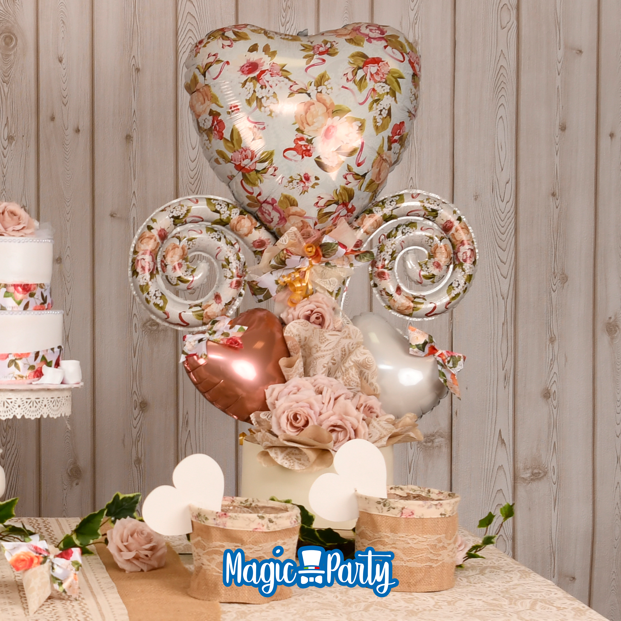 Realizza Una Composizione Di Palloncini Floreali Per Un Matrimonio In Stile Shabby E Decora Gli Ogg Palloncini Matrimonio Palloncini Floreali Matrimonio Magico