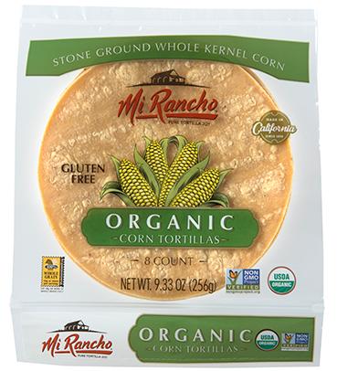 Mi Rancho Organic Corn Tortillas Are Made From Whole Kernel California Organic Corn That We Cook With Lime Corn Tortillas Organic Corn Tortillas Organic Corn