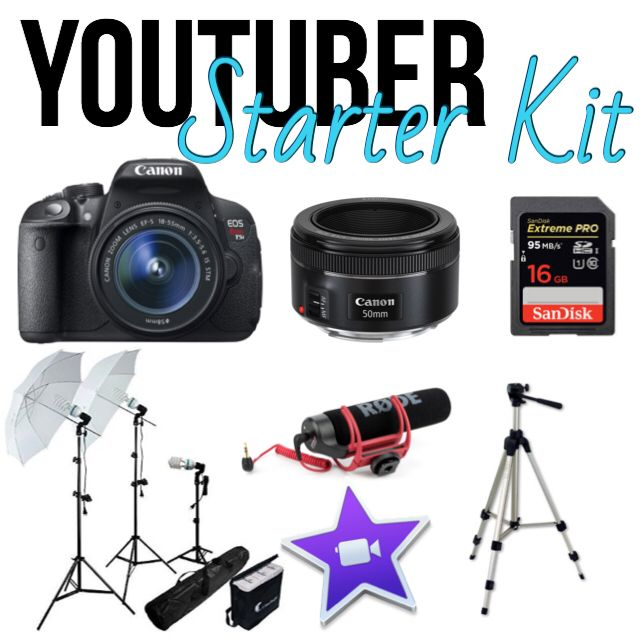 This Is The Youtuber Starter Kit Youtube Gear I Started Out With These Are The Essentials To Run A Start Youtube Channel Youtube Channel Ideas Youtube Setup