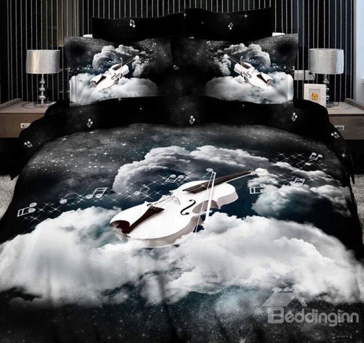 New Arrival Top Class Cotton Angelic Voices 3D Print 4 Piece Bedding Sets  @beddingtons bed  bath inn