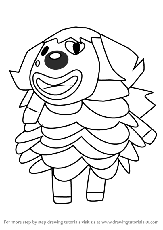 Learn How To Draw Pietro From Animal Crossing Animal Crossing Step By Step Drawing Tutorials In 2020 Animal Crossing Drawings Animals