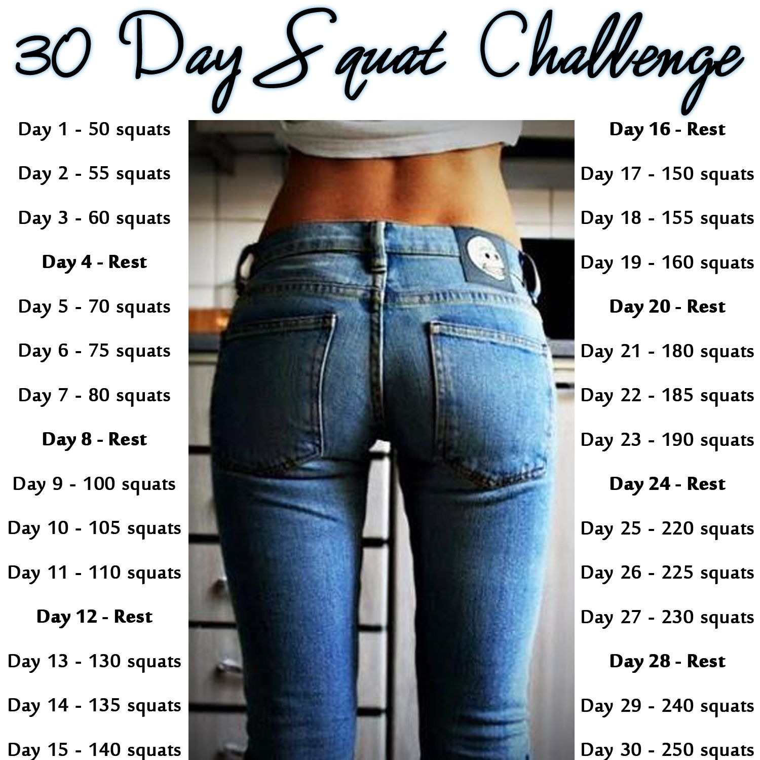 30 Day Squat Challenge Ok Girls Who S With Me I M