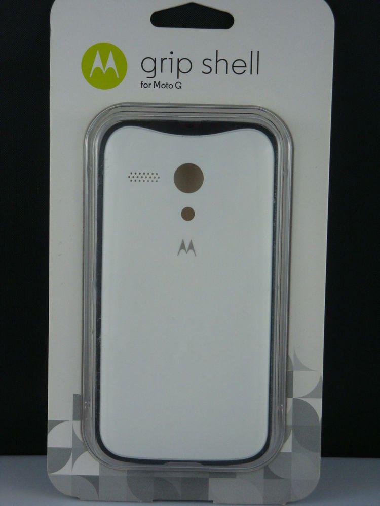 NEW -  GRIP SHELL cell phone case  for Moto G  white #Motorola