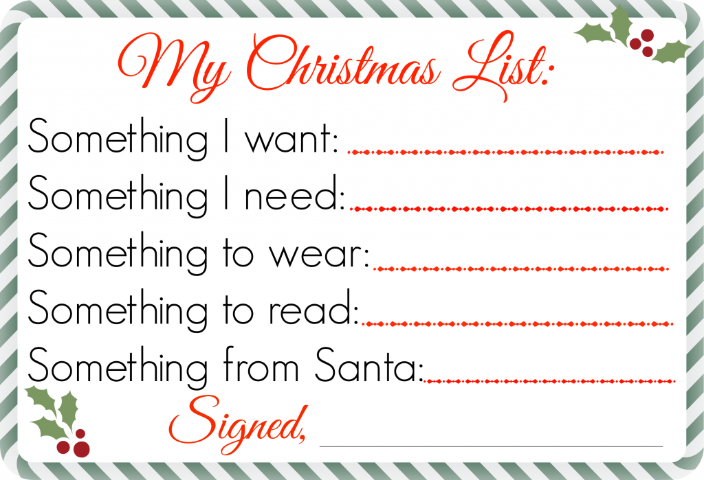 Printable Santa Wish List Mesmerizing Printable Free Christmas List Printableuse To Create A Simple .