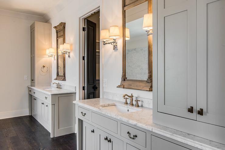 Restoration Hardware Trumeau Mirrors And Campaign Double Sconces Bathrooms Pinterest