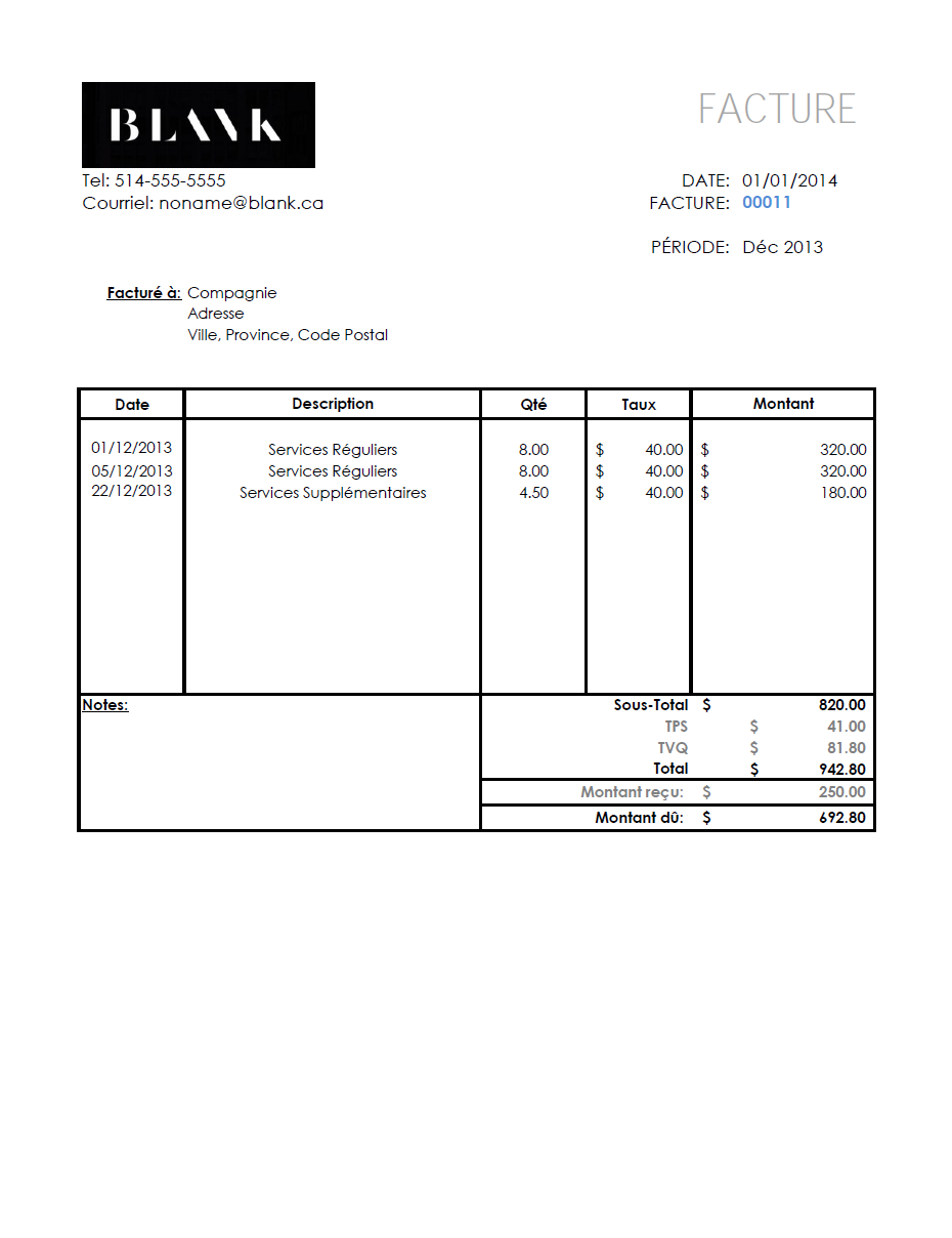 simple invoice template for small business owners