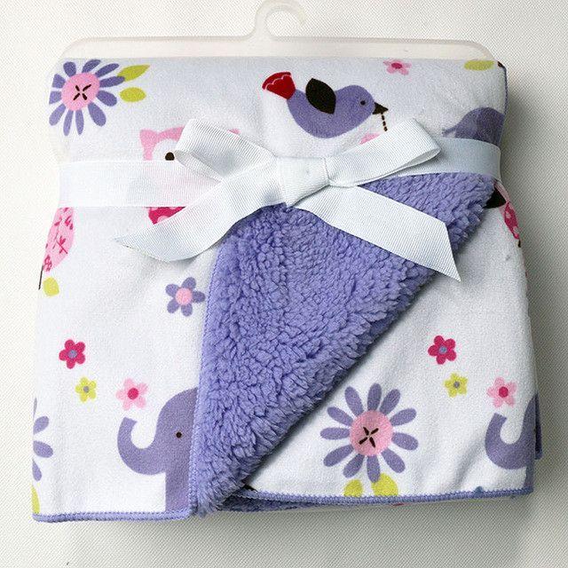 JUST CUTE - Fluffy Fleece Baby Blanket  5bc43a646
