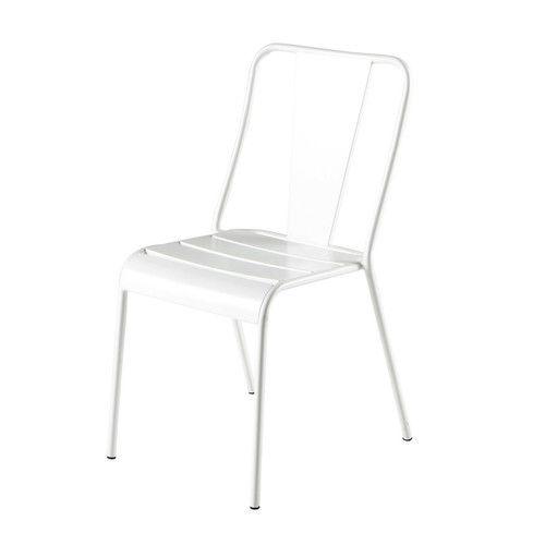 Gartenstuhl aus Metall, weiß   Pinterest   Gartenstühle und Metall