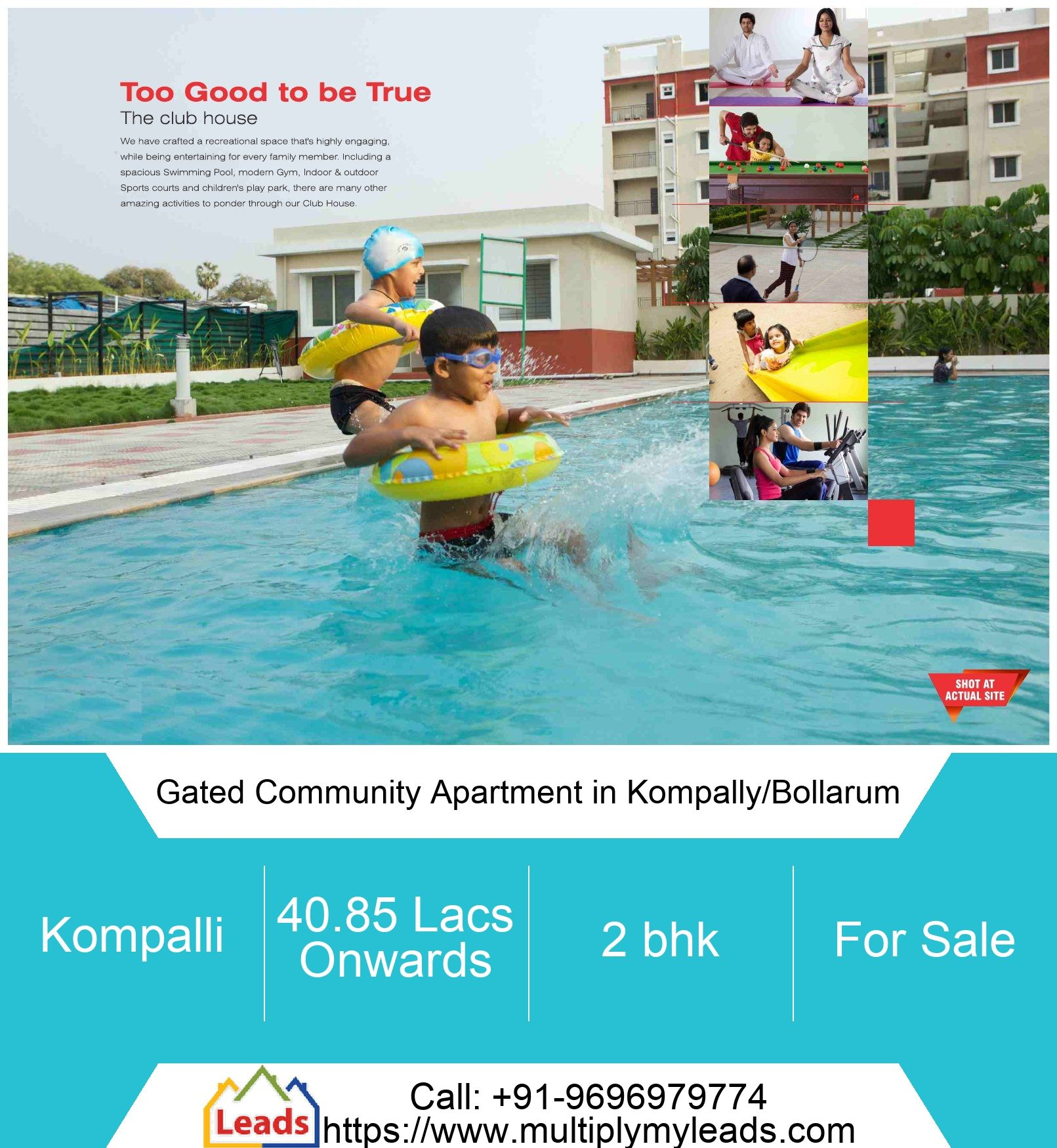 2 Bhk Apartment Flat For Sale 1075 0 Sq Feet 41 0 Lakh In Gated Community Apartment In Kompally Bollarum In 2020 Fire Protection System Gated Community Builtup Area